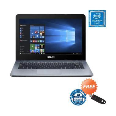 Asus X441MA-GA032T Notebook - Silver [N4020/ 4GB/ 1TB/ 14 Inch/ Win10 Home] - Free Mousepad Starwars R2D2 + Sandisk Flashdisk 16GB