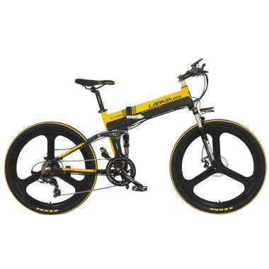 harga Lankeleisi Sepeda Elektrik Lipat Elite Version 48V 10.4AH - XT750 - Hitam Kuning Blibli.com