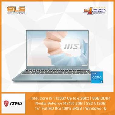 harga MSI Modern 14-B11SB-218ID - Blue [i7 1165G7-16GB-512GB-MX450-W10] Blue Blibli.com