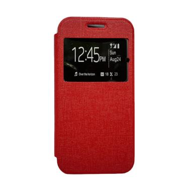 Zagbox Flip Cover Casing for Samsung Galaxy A3 A310 2016 - Merah