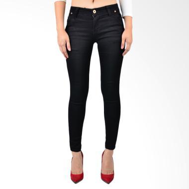 Mandalay Regular Celana Wanita - Black Denim