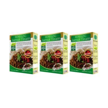 Laziz! Food Rendang Jamur Tiram No Chili Makanan Instan [3 pcs]