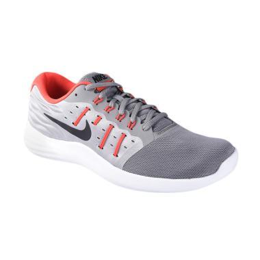 Nike Men Lunarstelos Running Shoes - Grey [844591-009]