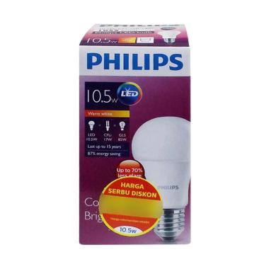PHILIPS Bohlam Lampu LED - Warm White [10.5 W]