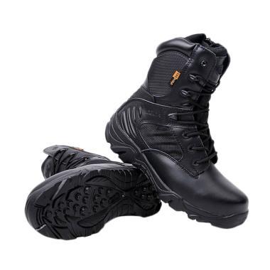 Delta Cordura Combat Sepatu Pria - Black Army
