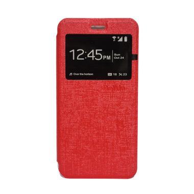 Delkin Flip Cover Casing for Vivo Y15 - Merah