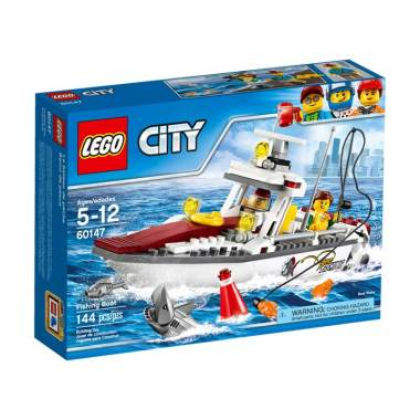Lego City 60147 Fishing Boat Mainan Blok & Puzzle