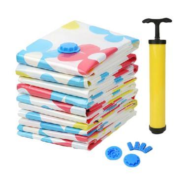 GilboyStore Vacuum Bag Plastik Serbaguna 6 in 1 Free Pompa Manual
