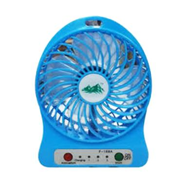 FLECO F95B USB Mini Fan with Powerbank - Biru