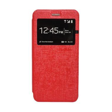 Delkin Flip Cover Casing for Vivo Y35 - Merah