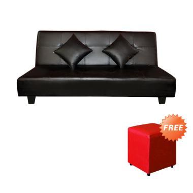 FCENTER Sofa Bed Dahlia Hitam + FREE PUFF [ JABODETABEK ]