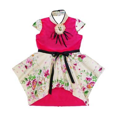Ficalica FC0032 Cutevina Floral Dress - Hotpink