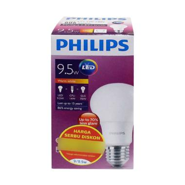 PHILIPS Bohlam Lampu LED - Warm White [9.5 W]