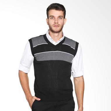 VM 021 Sweater Rompi Rajut Knitt Vest - Hitam