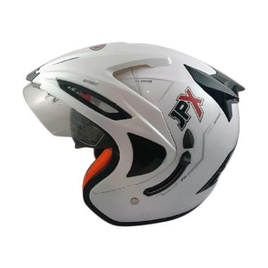JPX Supreme Solid Helm Half Face - Pearl White