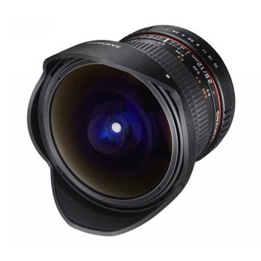 Samyang Lens 12mm F/2.8 Fisheye For Canon - Black