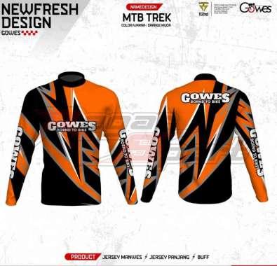harga [Pre Order 14 Hari] Regarsport Gowes MTB TREK Jersey Sepeda Pria Custom XXXL Orange Blibli.com