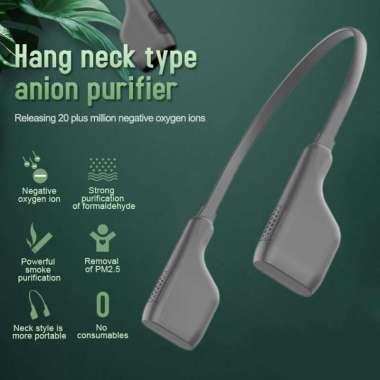 harga Hand Free USB Personal Fan- Portable Mini LED Fan Headphone Design Neckband Fan Black Blibli.com