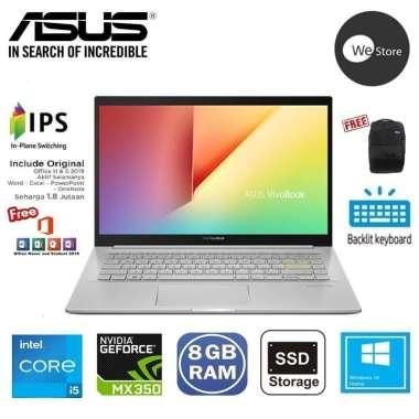 harga ASUS VIVOBOOK K413EQ-EB551TS Notebook [Intel® i5-1135G7/8GB DDR4/512GB SSD/Nvidia MX350 2GB/14