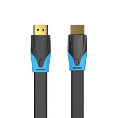harga [0.75M - B02] Vention Kabel Flat HDMI v1.4b Full HD 3D Hdmi 0.75m B02 Blibli.com