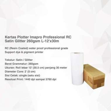 harga Kertas Plotter Imapro Professional RC Satin Glitter 260gsm L-12'x30m Putih Blibli.com