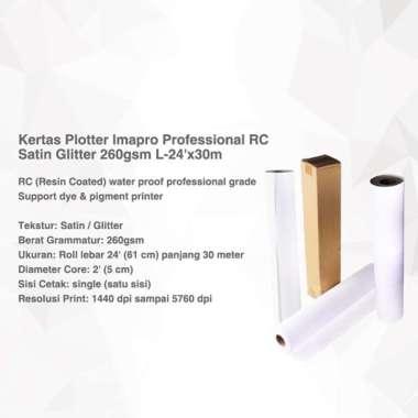 harga Kertas Plotter Imapro Professional RC Satin Glitter 260gsm L-24'x30m Putih Blibli.com