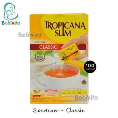 Tropicana Slim Sweetener Classic Isi 100 Sachet / Pengganti Gula Rendah Kalori