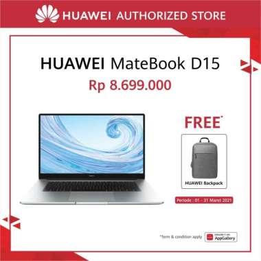 HUAWEI Matebook D15 [8 GB/ 256 GB] AMD Ryzen 5 3500U, Windows 10 Free Huawei Bag Pack Mystic Silver