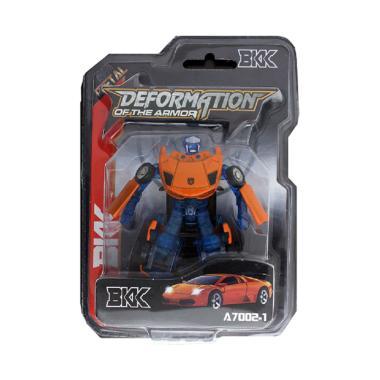 YUGI Mobil Robot Die Cast Mainan Anak - Orange