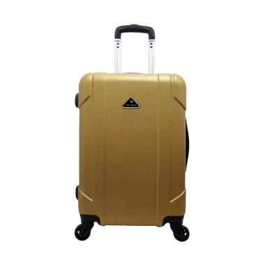 Polo Milano 28118 ABS Hardcase Trolley Bag - Gold [20 Inch]