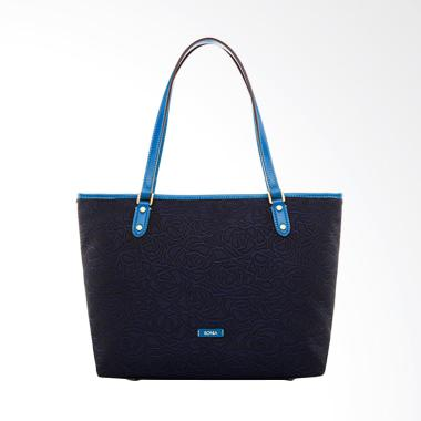Bonia Paula Jacquard Tote Bags - Blue