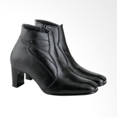 Azzura A698 Leather Handmade Boots Wanita - Black