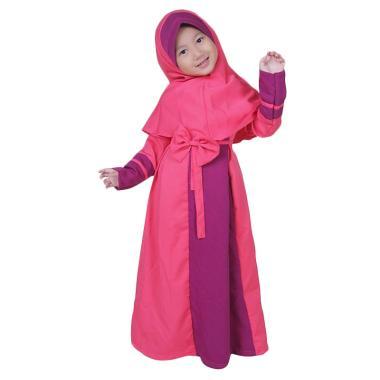 BajuYuli Balotelli Pita Gamis Anak Perempuan - Pink