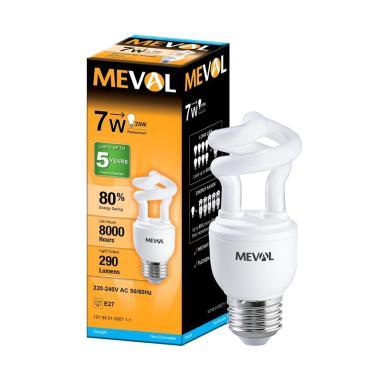 Meval CFL/LHE Spiral Lampu Bohlam - Putih [7 W]