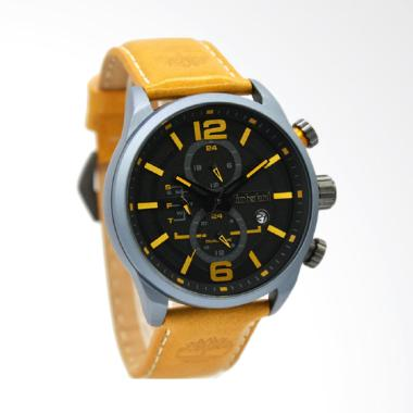 Timberland Jam Tangan Pria Leather  ... Plat Hitam - 14816JLU-02B
