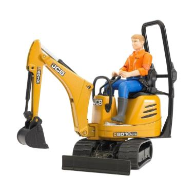 Bruder Toys 62002 JCB Micro Excavat ... ntruction worker Die Cast