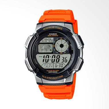 Casio AE-1000W-4BVDF 10 Year Batter ... ita - Hitam Oranye Silver