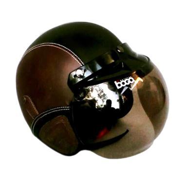 JBX Helmet Retro Kulit Kaca Bogo Original ...