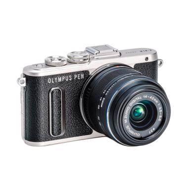 harga Olympus PEN E-PL8 Kit 14-42mm Kamera Mirrorless - Hitam Free Screen Guard (Terpasang) dan Tas Kamera Blibli.com