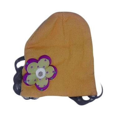 Mom Flower Topi Rajut Anak - Yellow