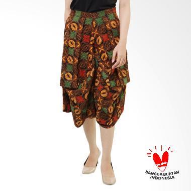 Benangsari Tinara Kulot Pants Celana Batik Wanita - Coklat