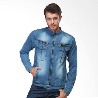 Inficlo Jeans Denim Original Jaket Levis Pria - Biru SPI436