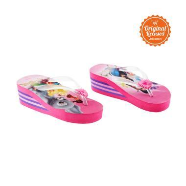 Tinkerbell Flip Flop Eva High Heals Sandals Anak Perempuan - Purple