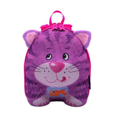Okiedog Wildpack Backpack Cat Tas Sekolah Purple