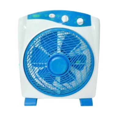 Sanex SB 818 Model Box Fan Kipas Angin Meja - Biru [12 Inch]