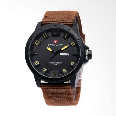 Swiss Army Jam Tangan Pria - Coklat kuning 8014