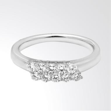 LINO P1610180007 Cincin Berlian Emas Putih 18K VVS