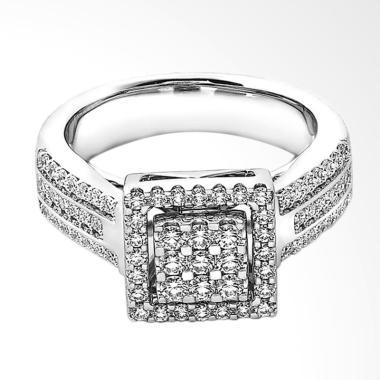 Lino P1609010007 Cincin Berlian Emas Putih [18K VVS]