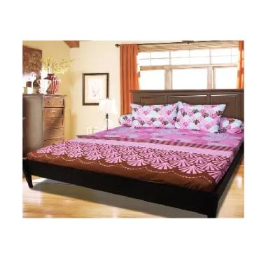 My Love Motif Pinky King Set Sprei [180 x 200 x 25 cm]