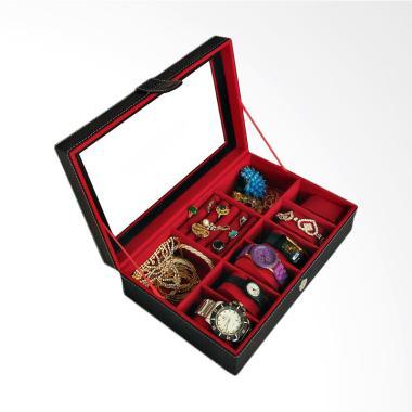Bakul Etnik BK01 Kotak Jam dan Perhiasan - Hitam